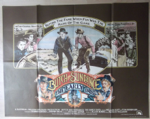 Butch and Sundance the Early Years, Original UK Quad Poster, Katt, Berenger, '79